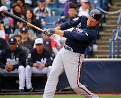 Kelly Johnson at the plate