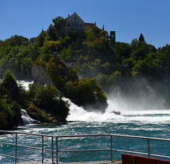 From our trip to Switzerland- Zurich  .      .     . Rhinefall .      ( the largest plain waterfall in Europ )    deserve to visit،،،