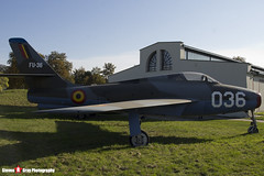 FU-36 036 - 52-7157 - Belgian Air Component - Republic F-84F Thunderstreak - Polish Aviation Musuem - Krakow, Poland - 151010 - Steven Gray - IMG_0572