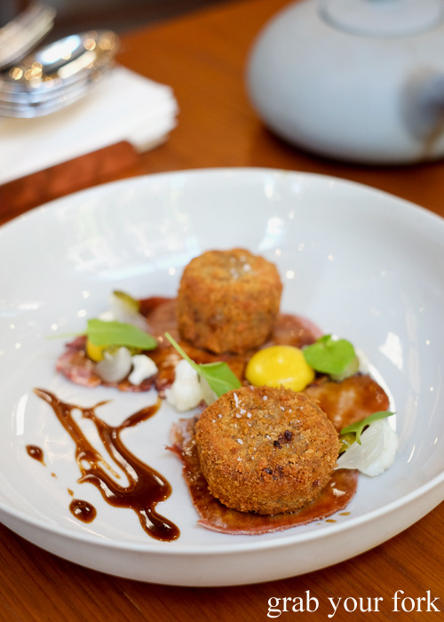 Tongue and cheek croquettes at Kensington Street Social in Chippendale