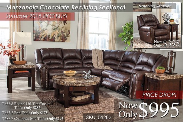 Manzanola Chocolate Sectional Summer Special