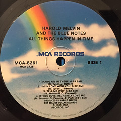 HAROLD MELVIN AND THE BLUE NOTES:ALL THINGS HAPPEN IN TIME(LABEL SIDE-A)