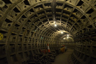 Construction Tunnel at Charing Cross Station