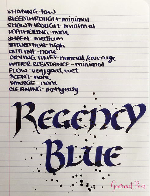 Ink Shot Review Diamine 150th Anniversary Regency Blue (5)