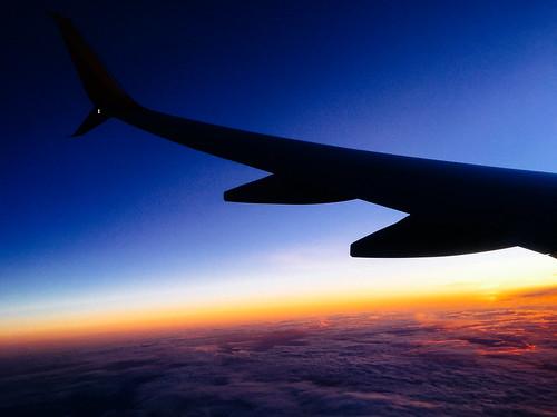 sunset sky chicago southwest clouds evening flying orlando unitedstates florida dusk airlines brooksville