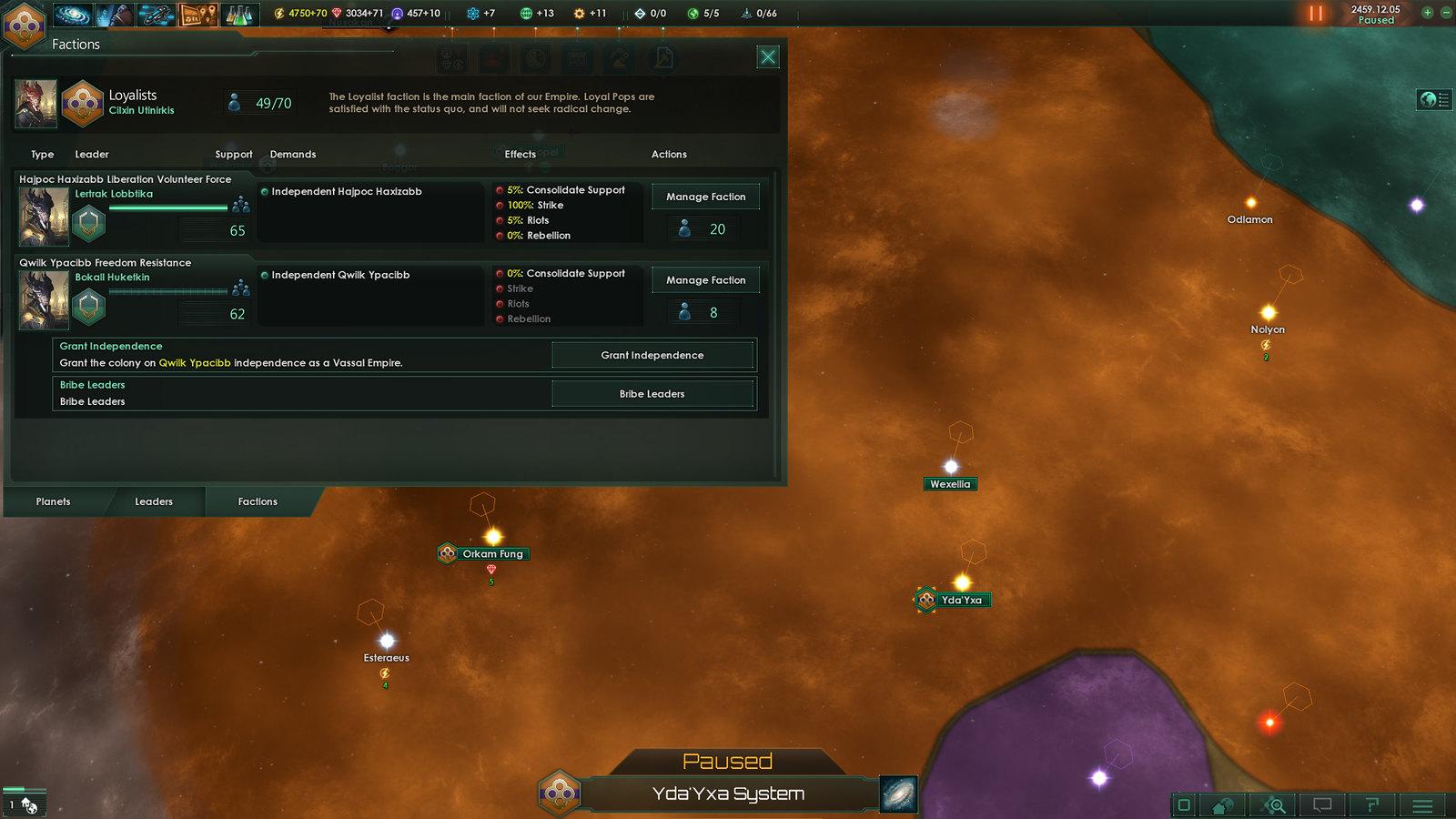 facciones stellaris