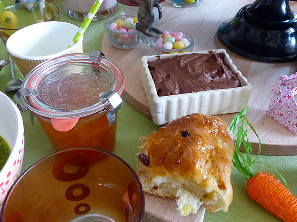 les buns et le beurre au chocolat