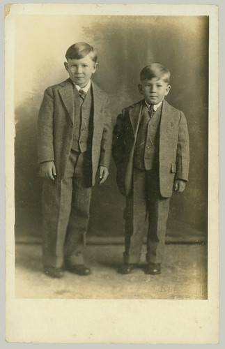 Two boys RPPC