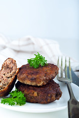cutlets with a side dish