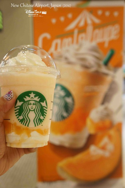 2016 Japan, New Chitose Airport Starbucks Cantaloupe Melon and Cream Frappuccino