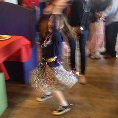Dancing queen. With streamers. #goof