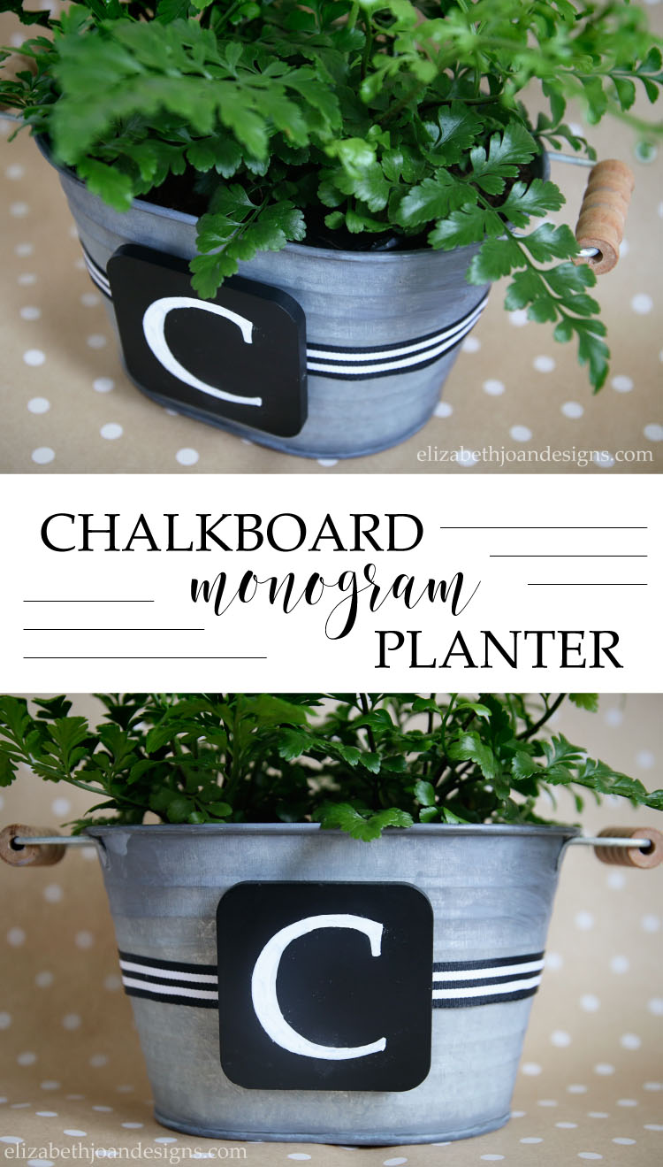 Chalkboard Monogram Planter - an easy 5 minute craft project and it makes a great gift too!