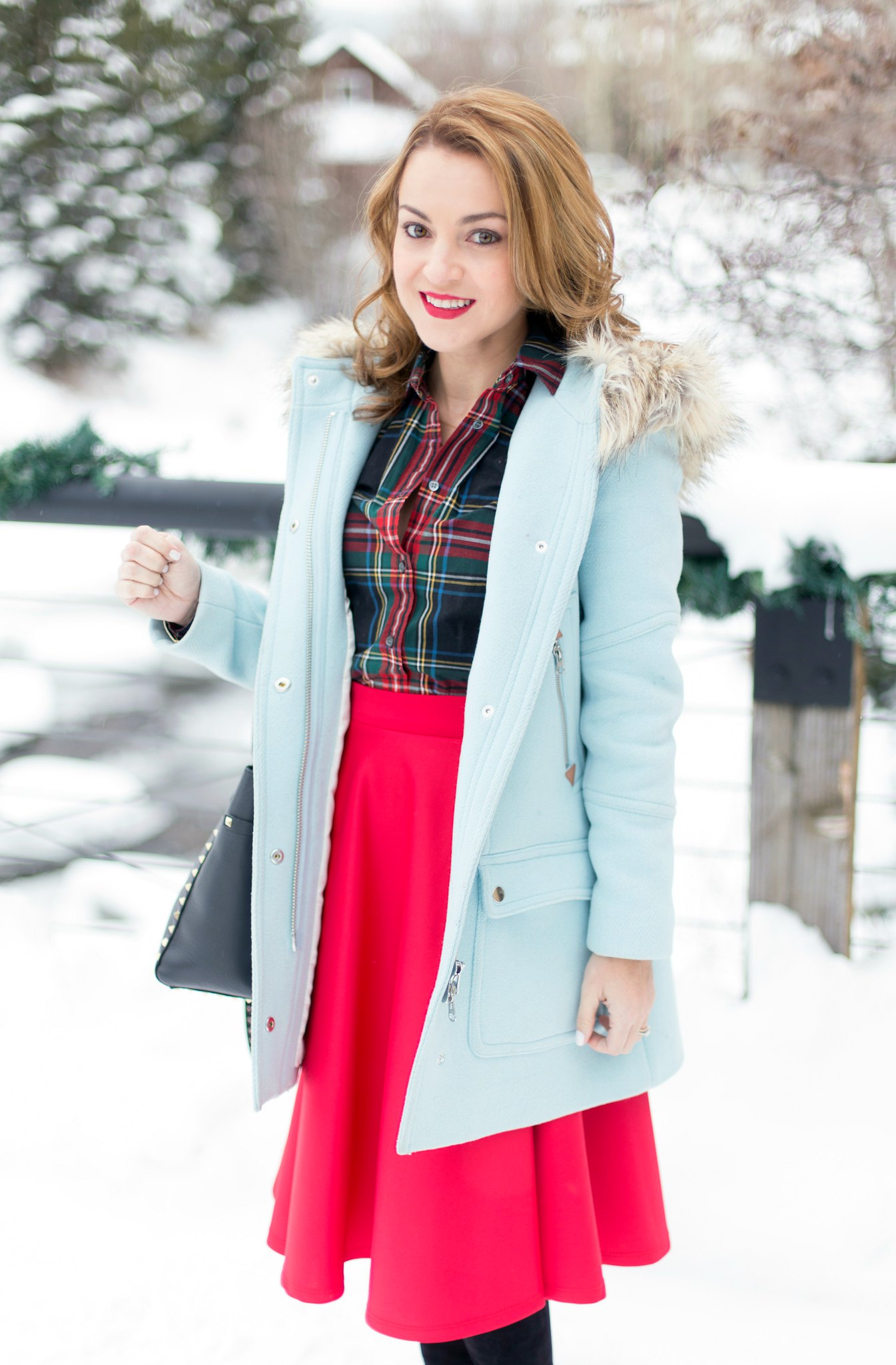 J.Crew Chateau Parka + Stewart Plaid Shirt