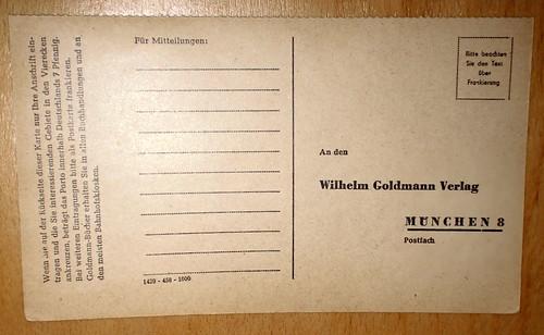 Postkarte Goldmannverlag