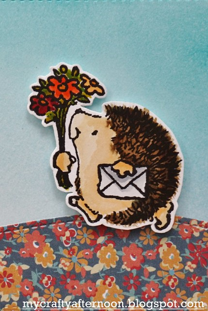 Thank You Card Series - Penny Black Hedgehog Detail