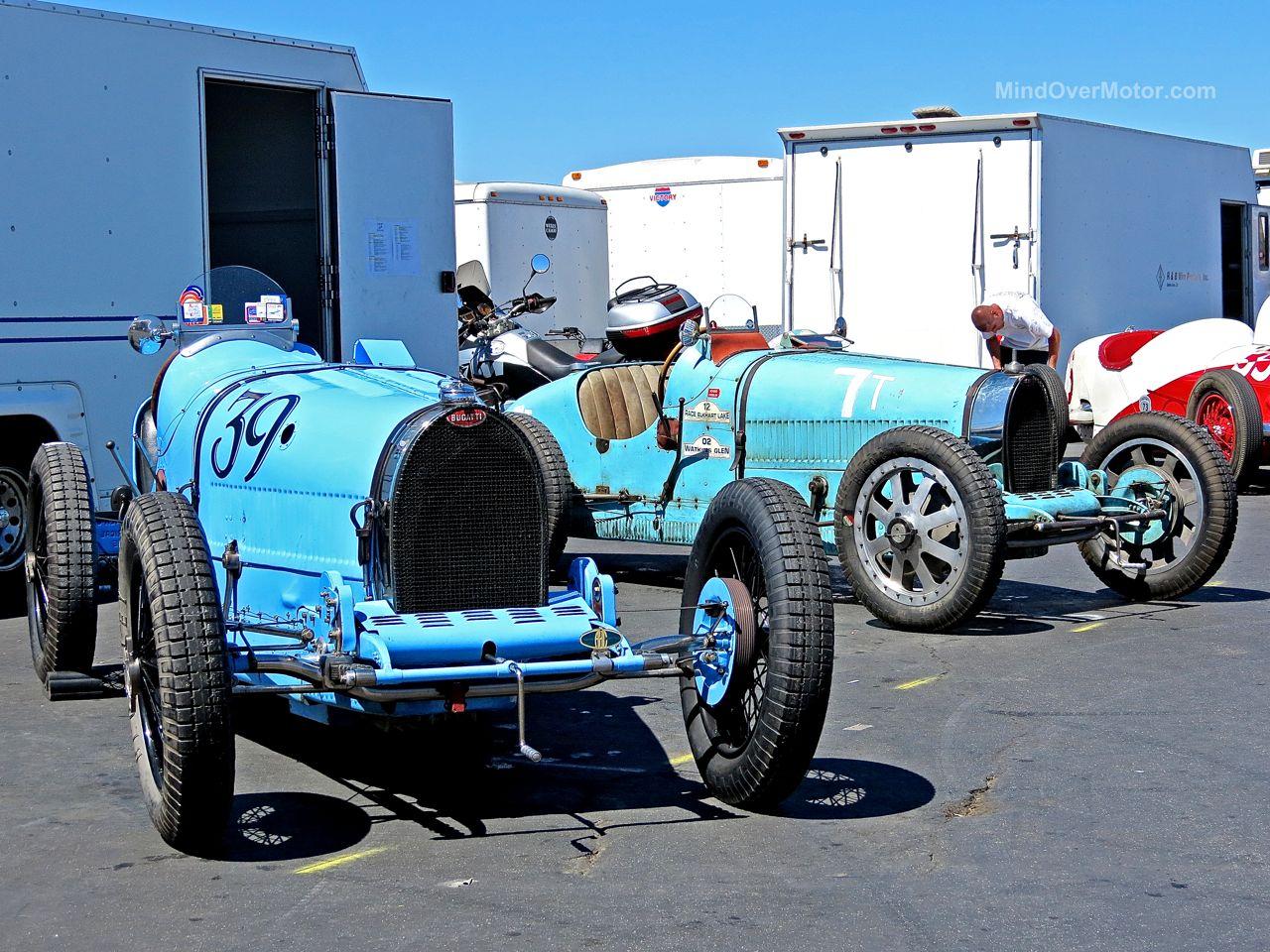 Bugatti Racing Cars Laguna Seca Paddock
