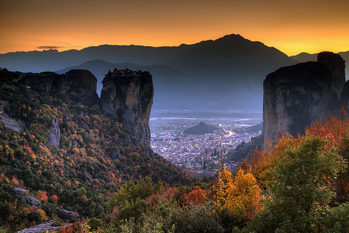 autumn sunset greece grecia griechenland grece meteora thessaly ελλάδα θεσσαλία μετέωρα