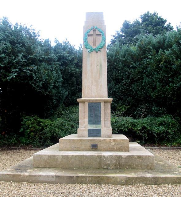 Bladon War Memorial Close-up