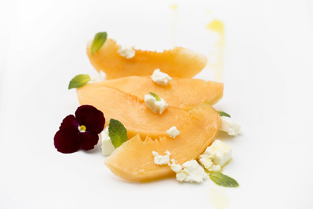 Charentais melon with barrel-aged feta and mint © ROH Restaurants