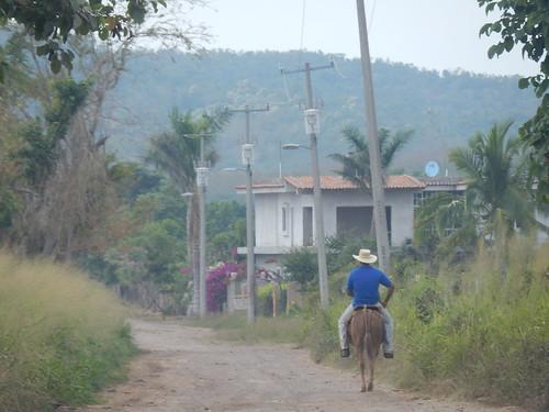 Punta Perula - man op paard