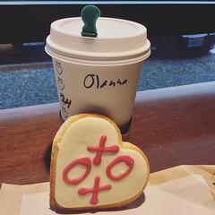Best part of Friday ☕️ #starbucks #sugarcookie #heart ❤️