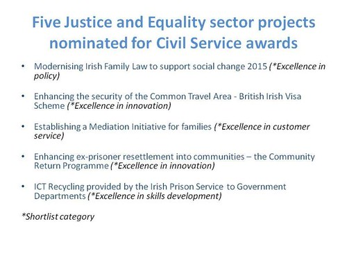 Five projects that were nominated for Civil Service Awards