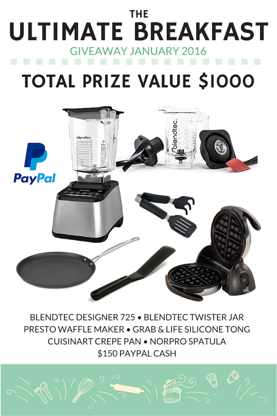 The Ultimate Breakfast Giveaway - where one lucky reader will win an assortment of prizes valued at over $1000!