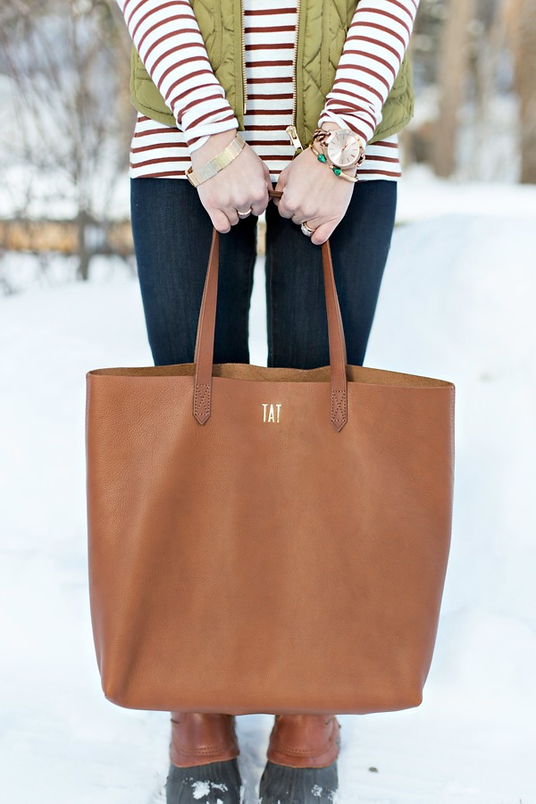 Madewell Transport Tote English Saddle