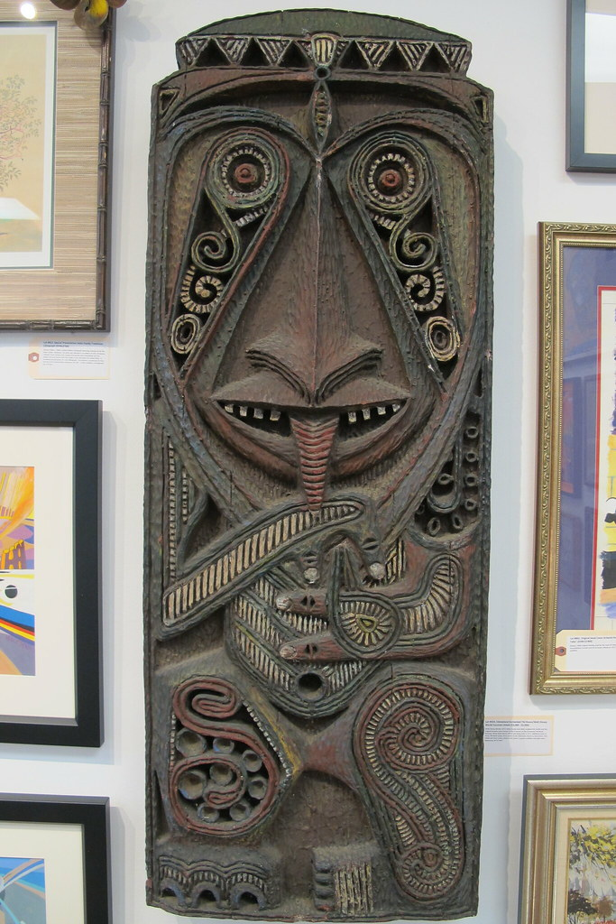 Enchanted Tiki Room shield by Rolly Crump and more