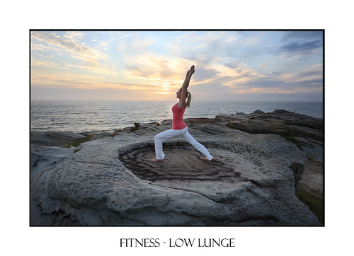 Yoga Pilates Fitness stretch low lunge