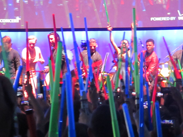The new cast from Star Wars The Force Awakens waves bye to the fans by Peter Lee