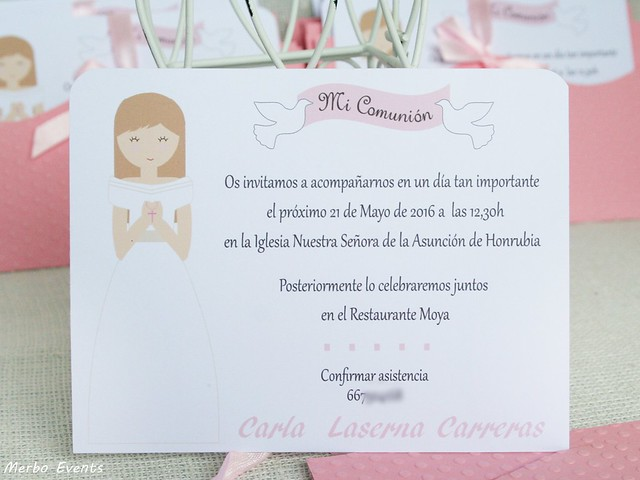 Invitación Comunion Venecia Merbo Events