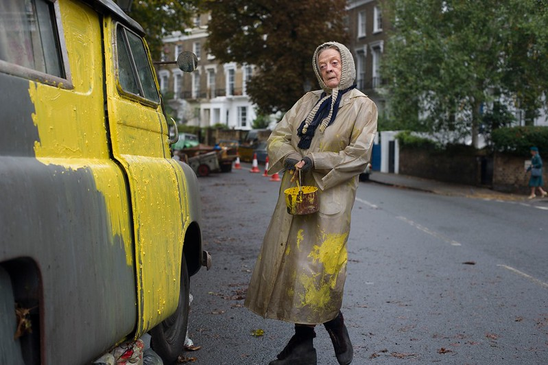 Maggie Smith is THE LADY IN THE VAN.