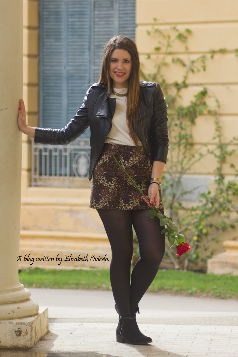 floral skirt ZARA botines Zalando new look outfit post HEELSANDROSES (5)