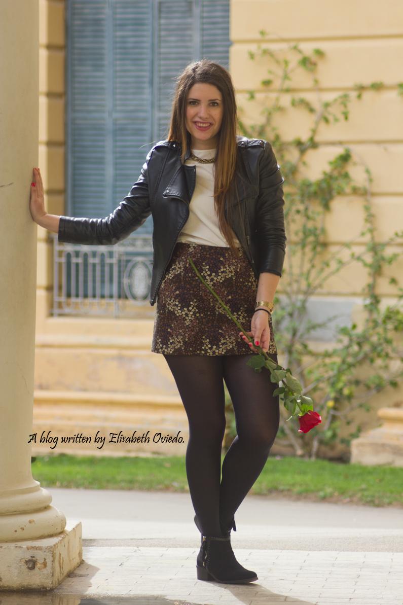 floral skirt ZARA botines Zalando new look outfit post HEELSANDROSES (5)