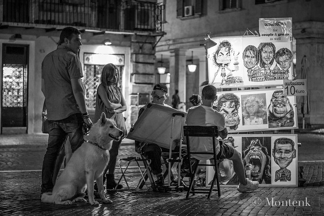 Caricatures in Piazza Navona II, Rome, Italy (2014)