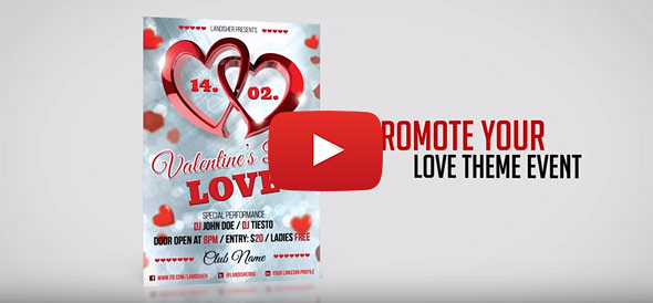 Valentines Day PSD Flyer Customization Examples