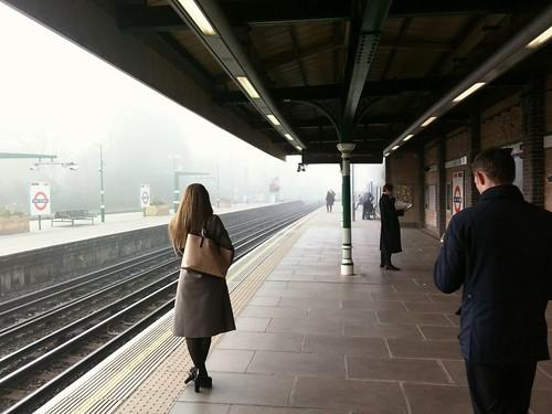Fog at East Putney station