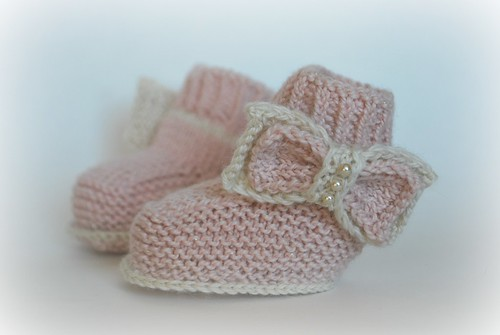 Pretty baby booties