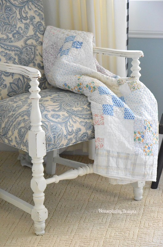 Guest Room Chair/Quilt - Housepitality Designs