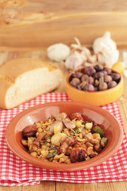 Migas caseras de pan www.cocinandoentreolivos.com (2)