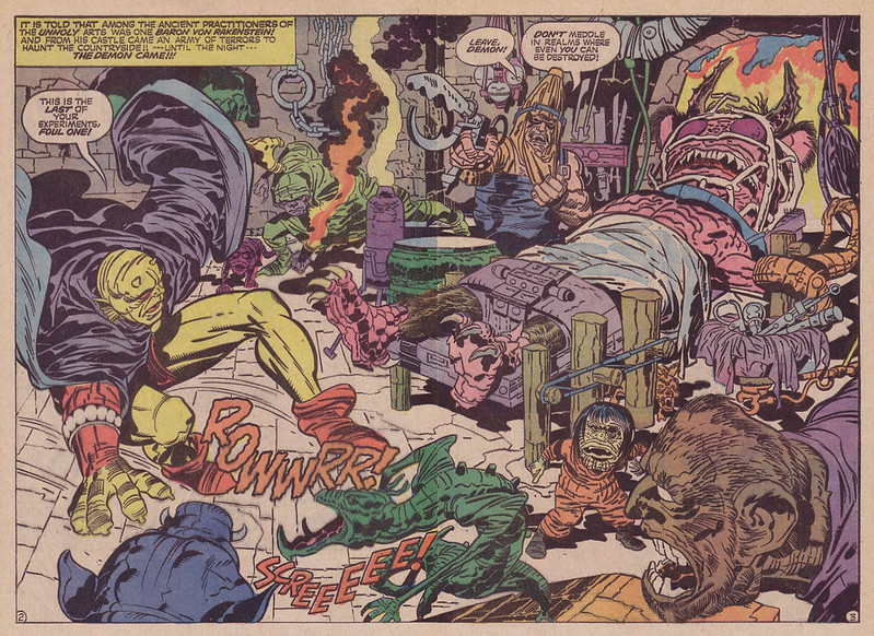 "Jack Kirby - Interior art from ""The Demon"" Issue 12, September, 1973"