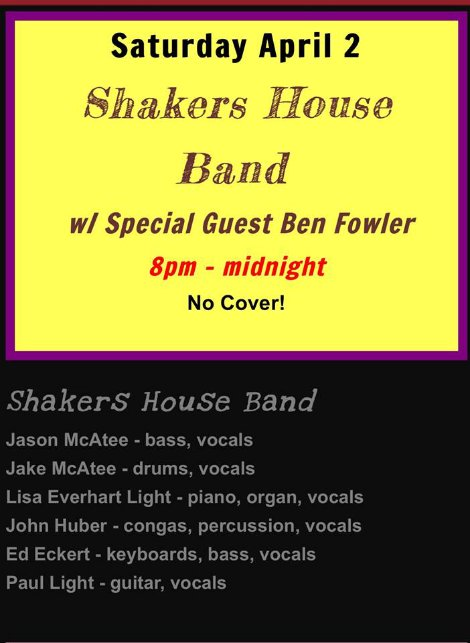 Shakers 4-2-16
