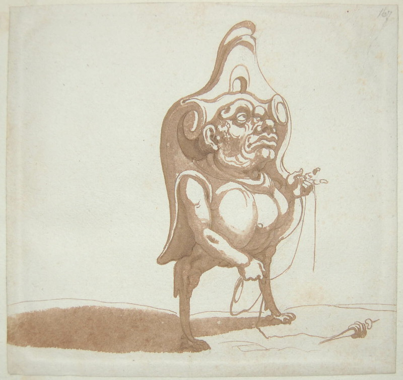 Arent van Bolten - Monster 167, from collection of 425 drawings, 1588-1633