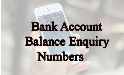 Bank Account Balance Enquiry Number - Missed call sms banking mobile banking number