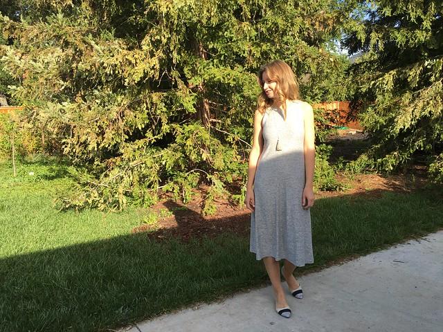 Gray tank dress