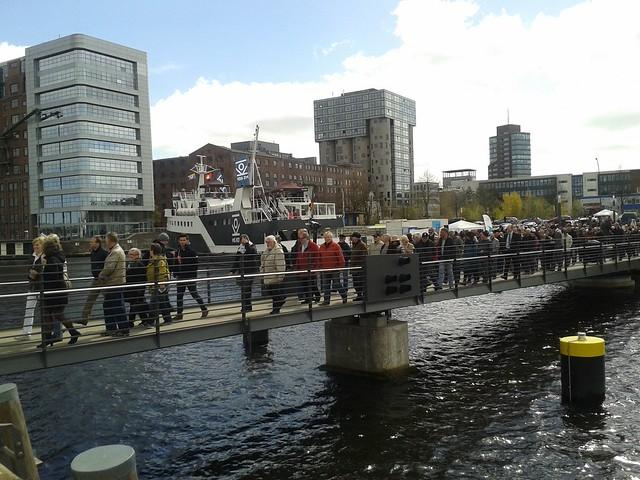 Brückenschlag im Harburger Binnenhafen