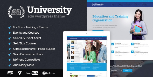 University v2.0.22 – Education, Event and Course Theme