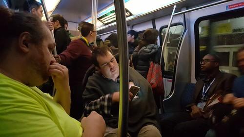 บรรยากาศภายใน Monorail ที่ลาสเวกัส