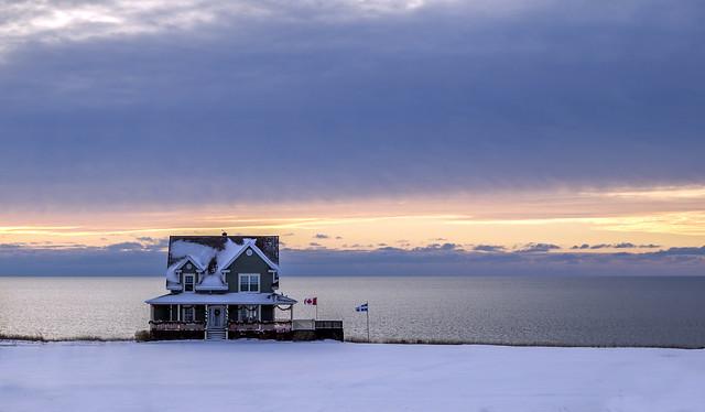 Frozen Winter sunrise